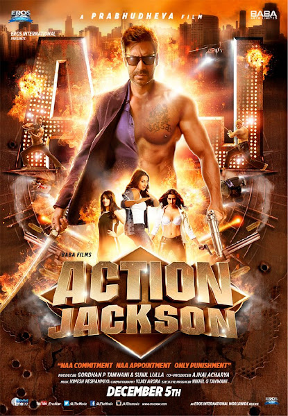 Poster Of Action Jackson 2014 Hindi 720p HDRip Full Movie Download