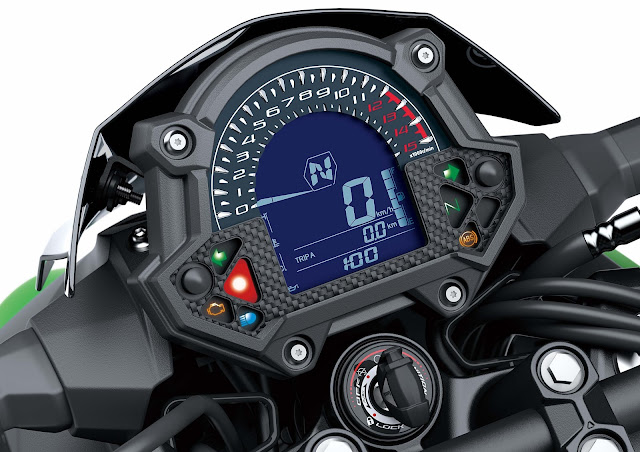 All New Kawasaki Z250 2019 speedometer