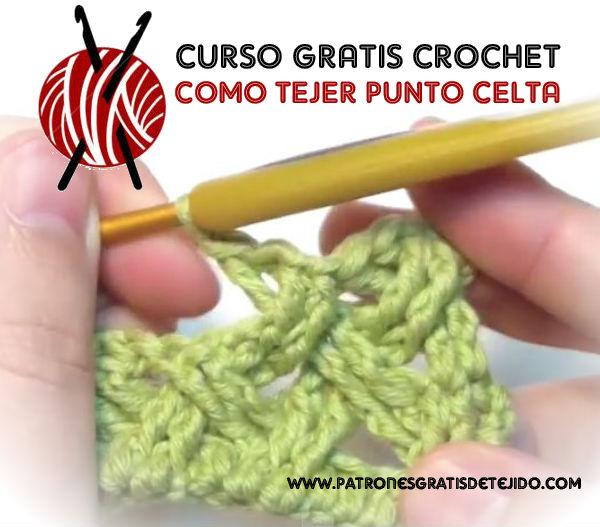 Curso gratis online de crochet: como tejer punto celta