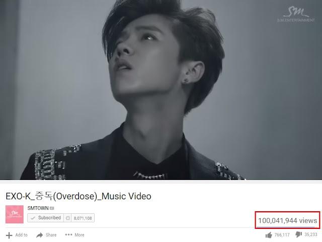 MV 'Overdose' EXO Akhirnya Capai 100 Juta Views di Youtube