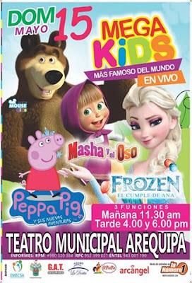 Mega Kids, peppa pig, frozen Arequipa