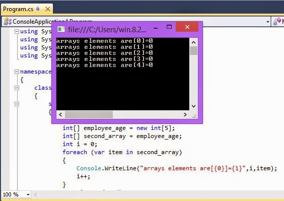 c# array initialize with default value 0