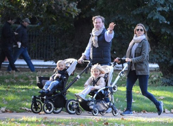 Swedish Princess Madeleine wore Valentino Byron cotton jacket and Chinti and Parker Stars & stripes sweater.