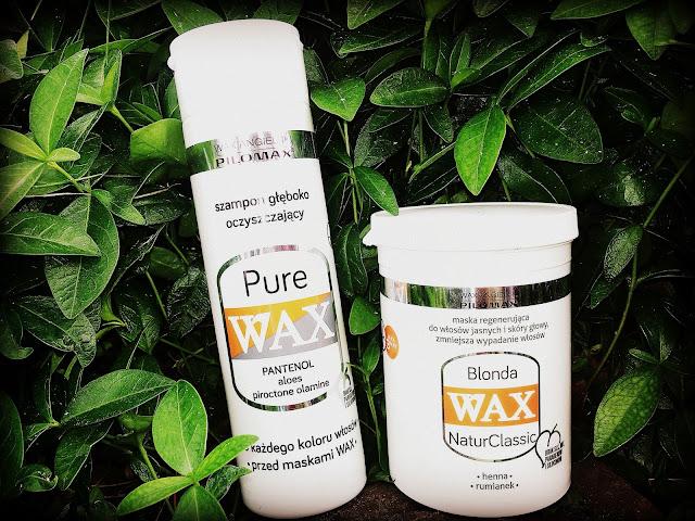 Wax angielski, PILOMAX - maska i szampon głęboko oczyszczający do włosów jasnych