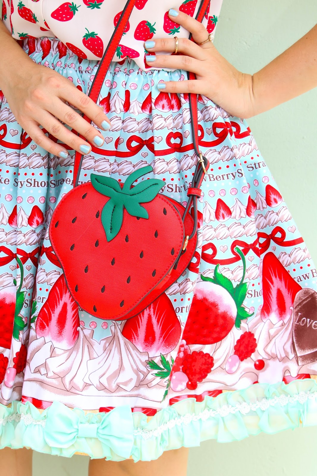 Outfit inspired by Strawberry Shortcake