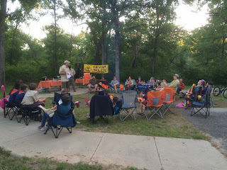 Dinner at the Cub Scout camp out event