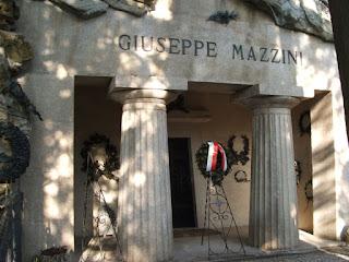 The Mazzini mausoleum at the Staglieno Cemetery in Genoa