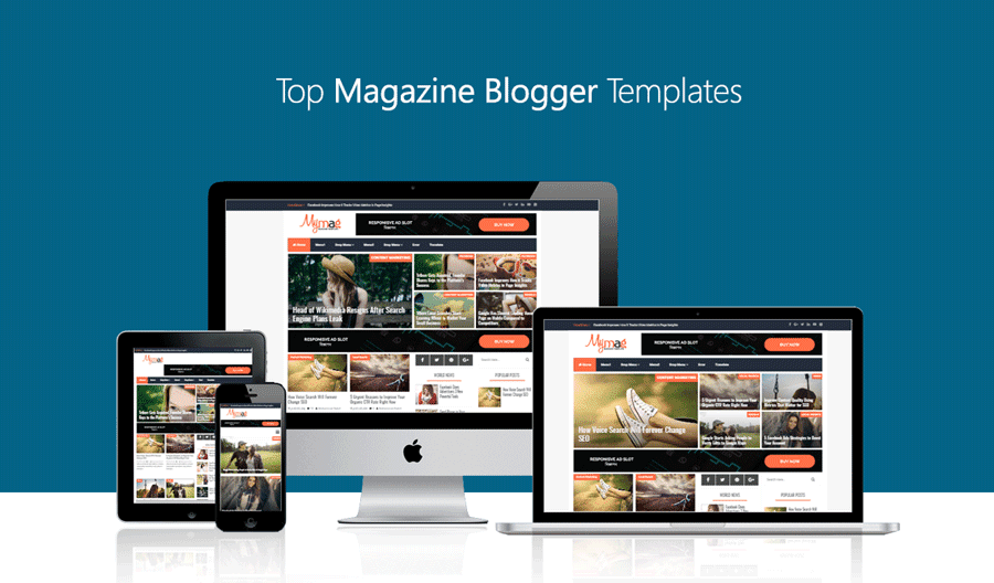 Top Magazine Blogger Templates 2018