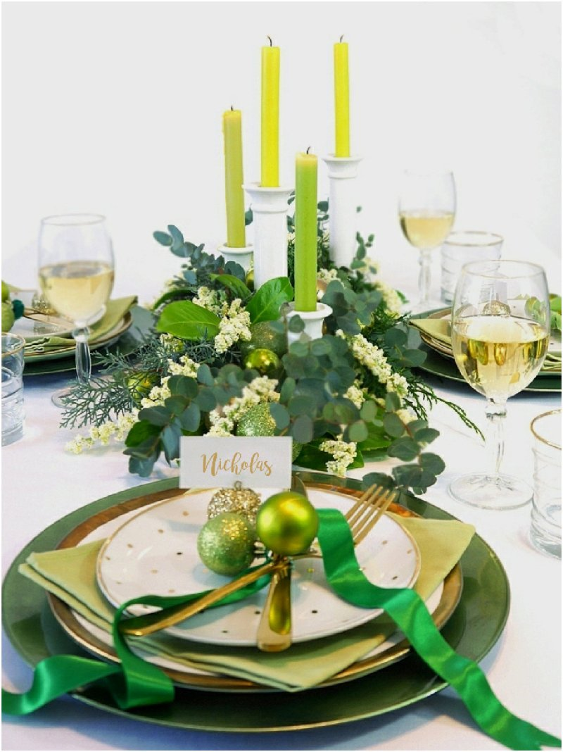 Green & Gold Christmas Party