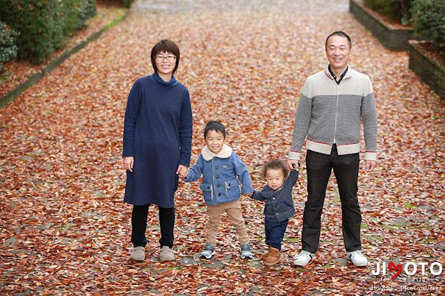 家族写真のロケーション撮影
