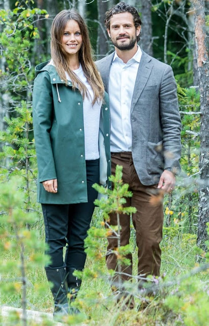 "Princess Sofia of Sweden and Prince Carl Philip of Sweden are seen during their inuaguration of the nature reserve ""Byamossarna"" in Arvika"