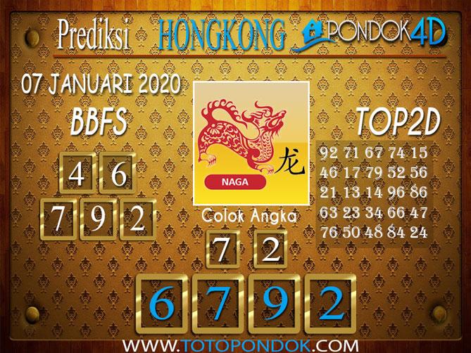 Prediksi Togel HONGKONG PONDOK4D 07 JANUARI 2020