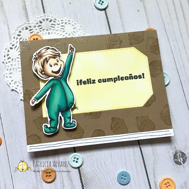 tarjeta de cumpleaños con un niño