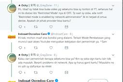 Penyebab Tidak Bisa Buka Video Di Youtube, Restricted Mode Pakai Indosat dan Telkomsel