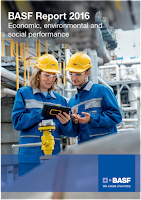 Front page of the annual 2016 report from BASF