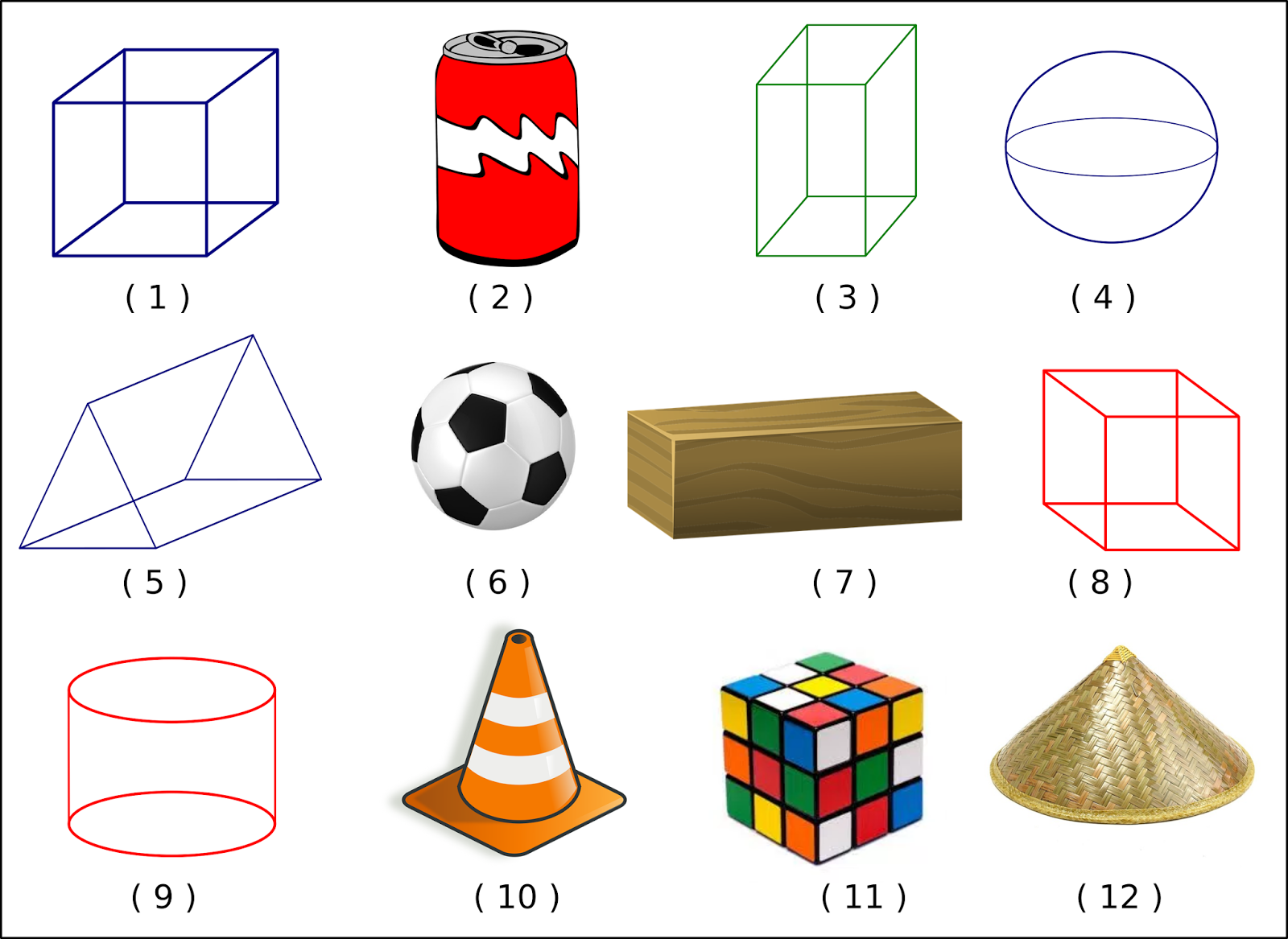 Download Soal Matematika Kelas 1 Sd Bab 4 Bangun Ruang Dan