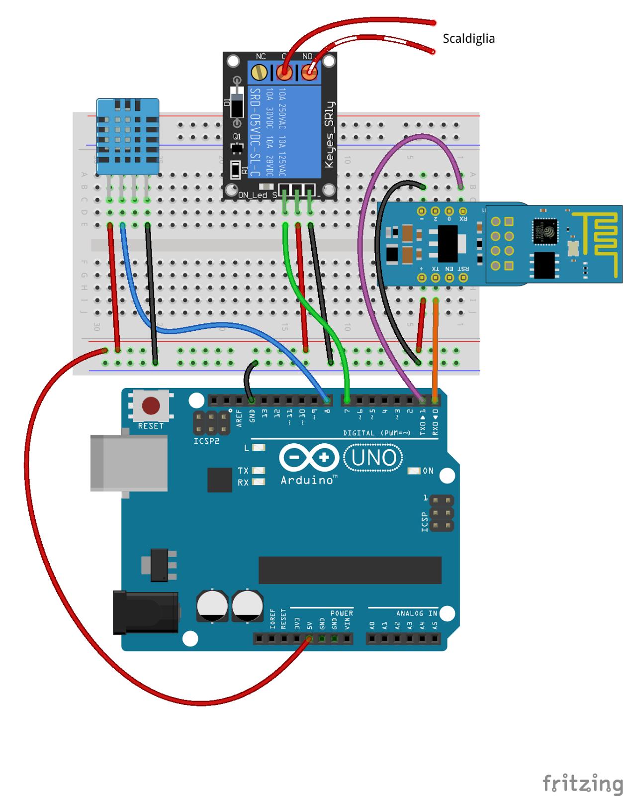 abbastanza Daniele Alberti, Arduino 's blog: Termostato wifi con Arduino e  LU11