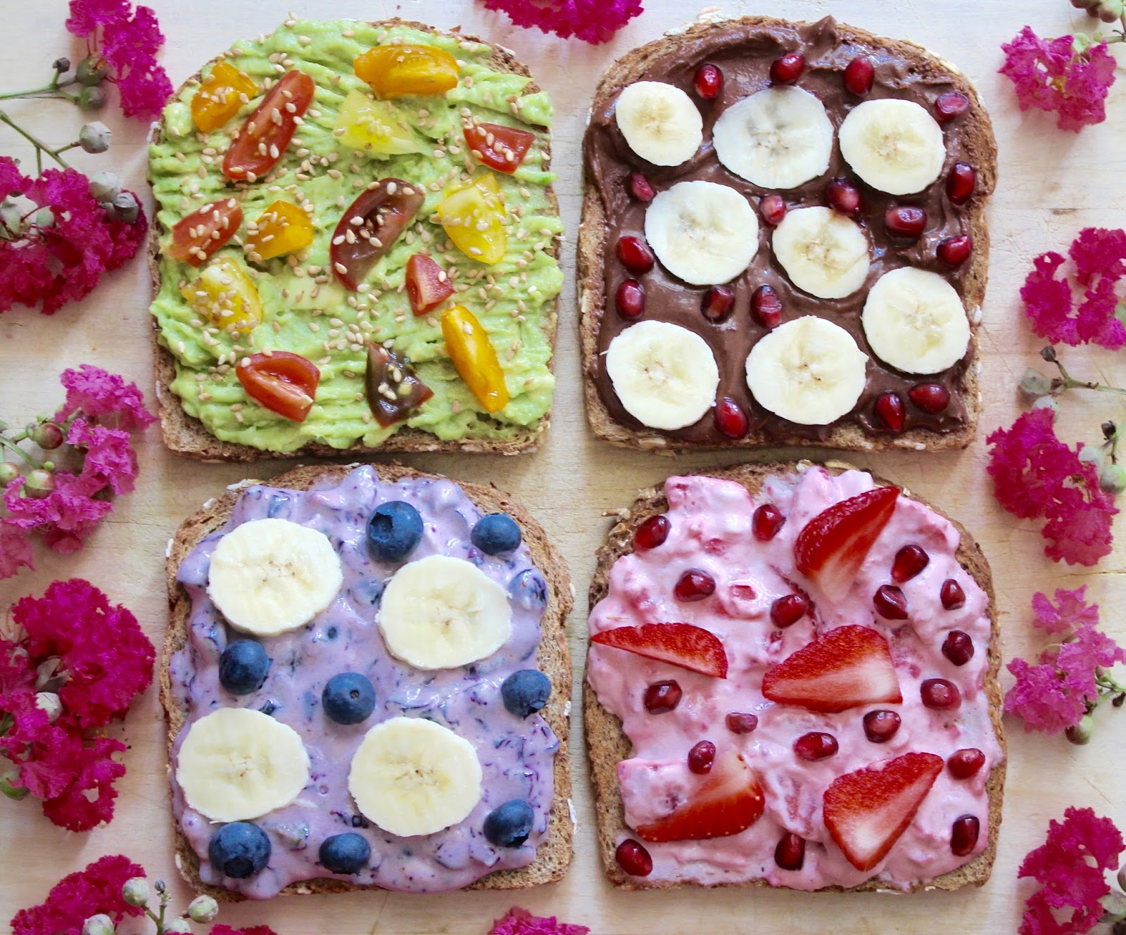 FRESH VEGAN TOAST 4 WAYS