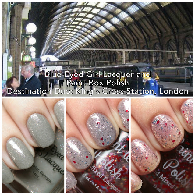 Blue-Eyed Girl Lacquer and Paint Box Polish Destination Duo King's Cross Station, London