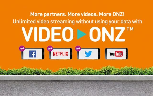 Tonton & Muat Naik Video di Facebook, YouTube, Twitter Tanpa Had & Tanpa Caj Data & Percuma Dengan Video-Onz