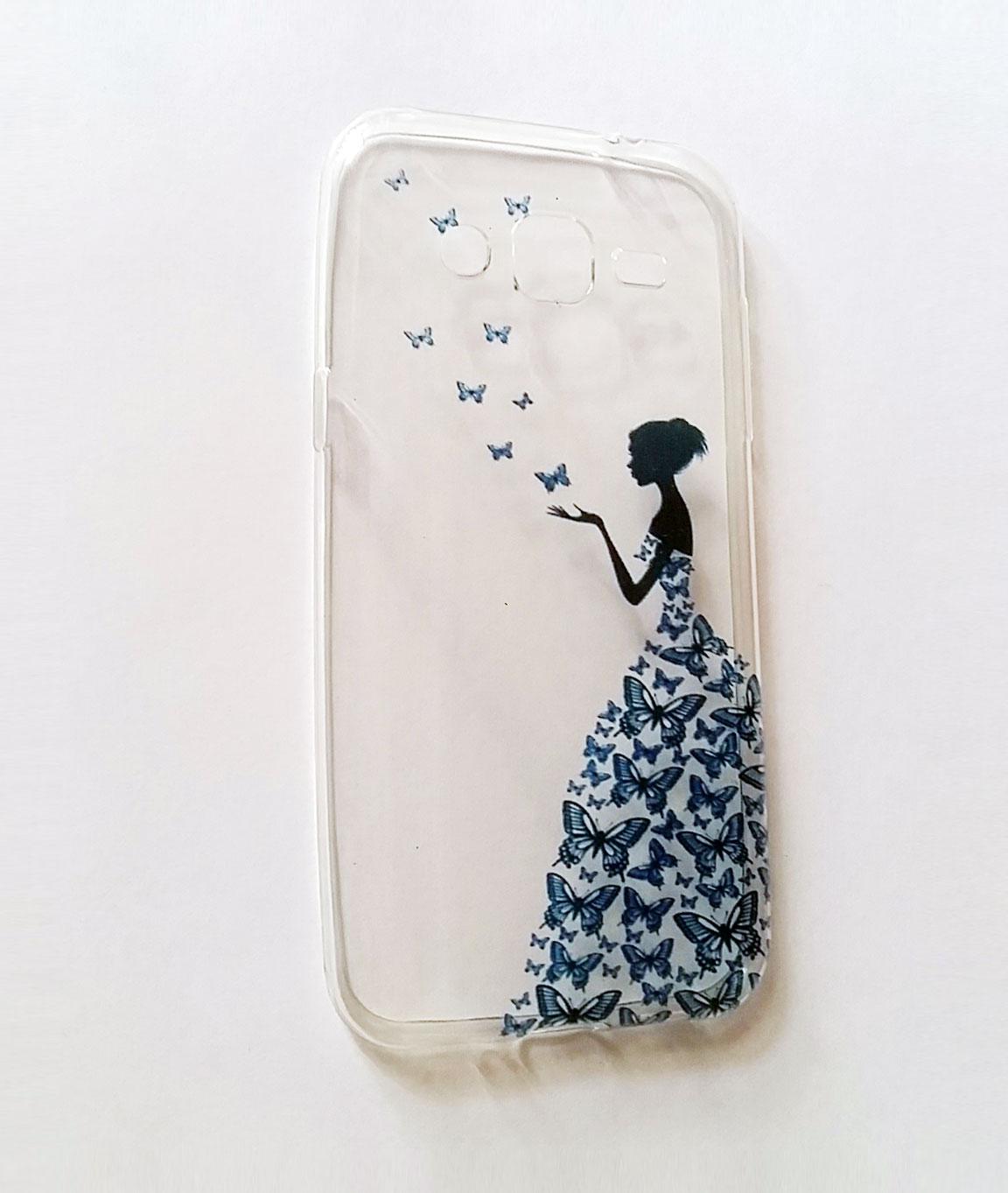 custom case transparan kupu kupu