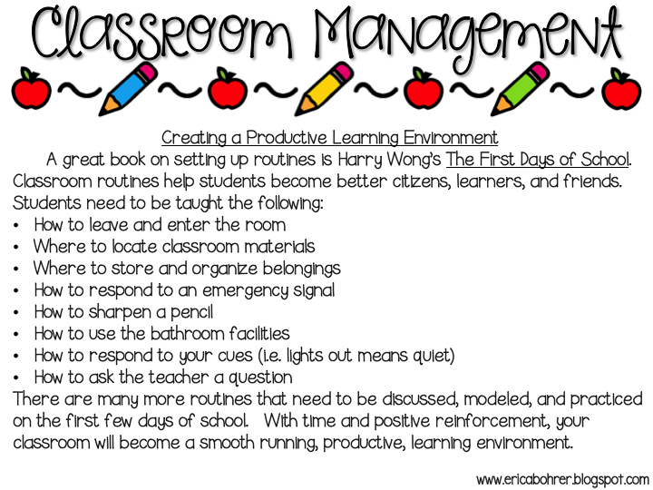 Classroom Management And Organization