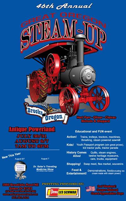 New Steampunk event on the 2016 steampunk event calendar: great oregon steam-up in salem.