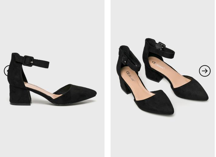 Answear - Sandale elegante negre cu toc gros ieftine
