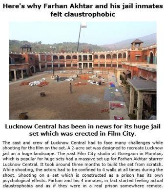 Newztabloid, Lucknow Central, Film City, Farhan Akhtar