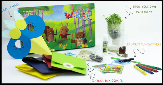 The weekend craft box is ideal for keeping kids active over the weekend