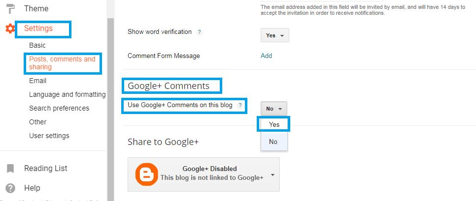 Google+ -kommentit
