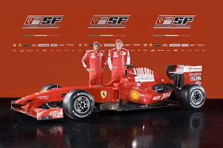 Ferrari team kimi raikkonen and massa