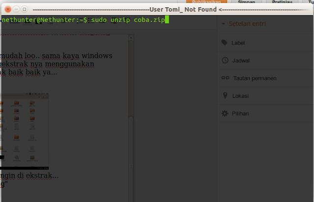 Cara Unzip File Di Linux Dengan Terminal 1
