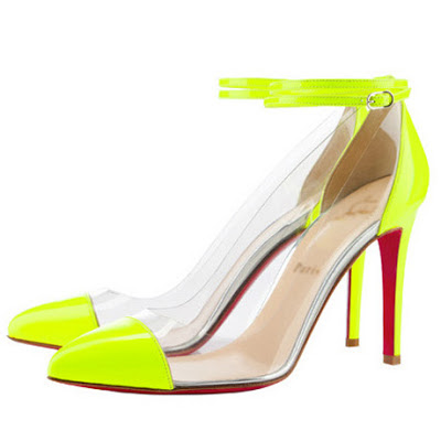 a0e6af8d6565 Sexy Pointed Toe Ankle Wrap Patchwork Stiletto High Heels Neon