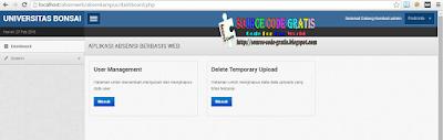 Download Gratis Source Code Aplikasi Absensi Kampus Online Berbasis Web PHP dan MySQL