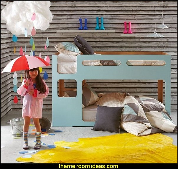 rain bedrooms weather themed bedrooms decorating rain theme room