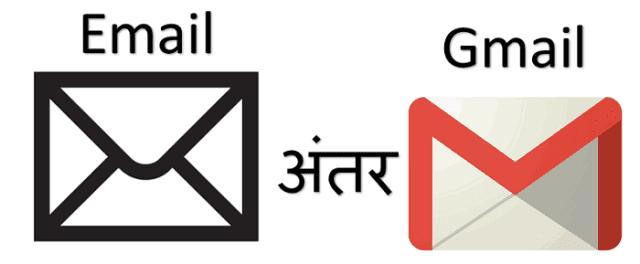 Email और Gmail में अन्तर