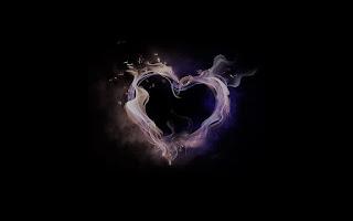 Siyah Beyaz Alevden kalp, Arka Plan Resmi