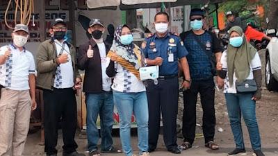 Management Pasar Pelangi bersama Paseba Tangerang Utara Lakukan Gebrak Masker