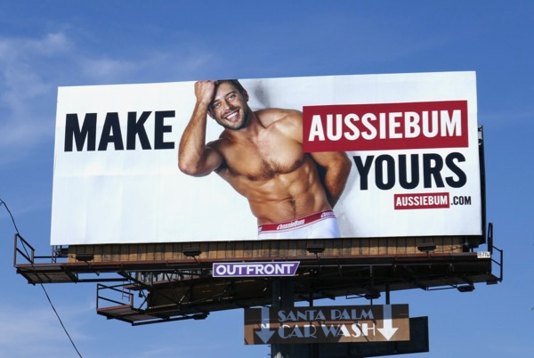Make AussieBum Yours underwear billboard