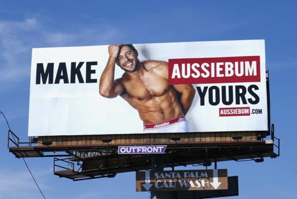 Make AussieBum Yours underwear billboard