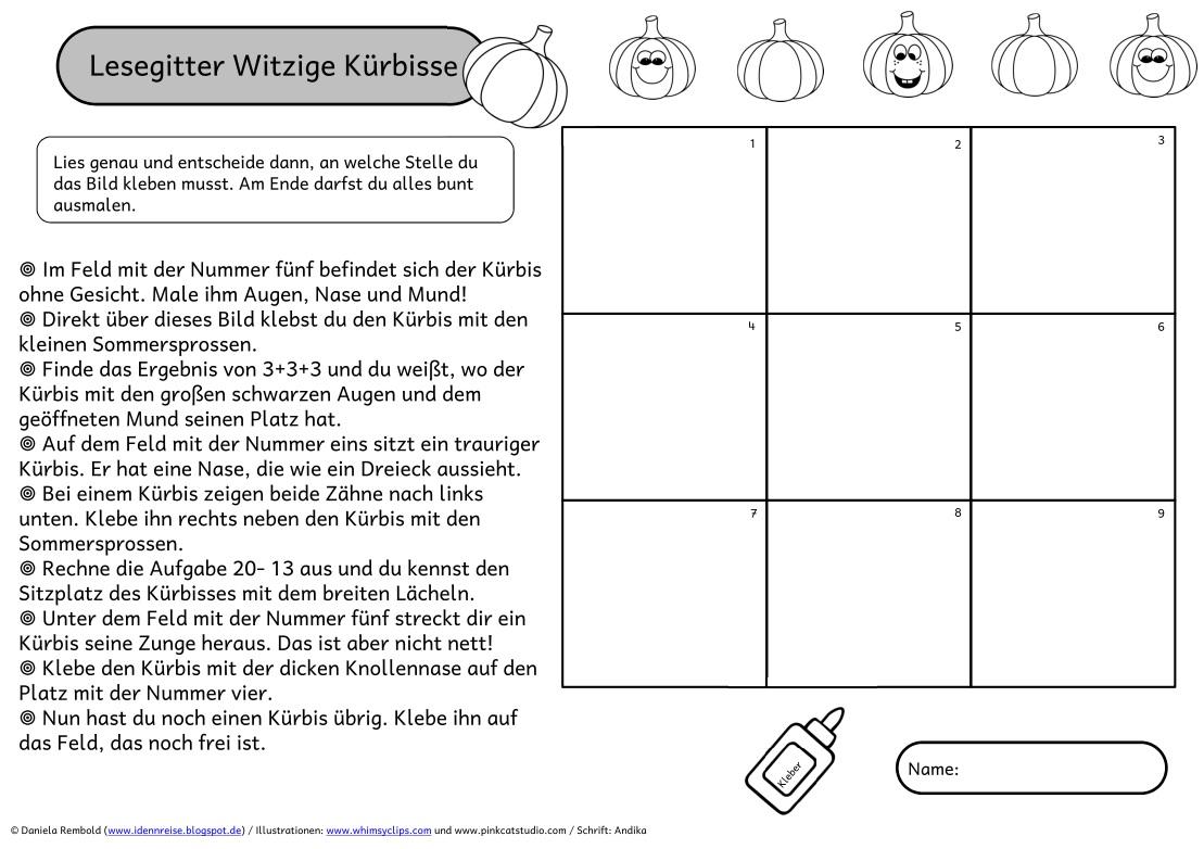Atemberaubend Kürbis Mathe Arbeitsblätter Kindergarten Galerie ...