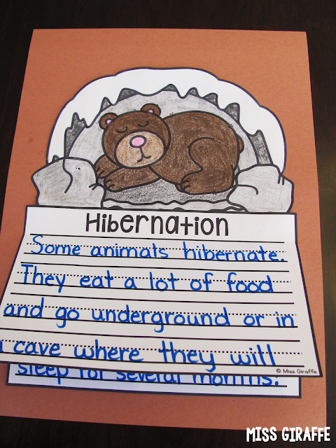 Hibernation writing activity that's a perfect no prep craft for winter