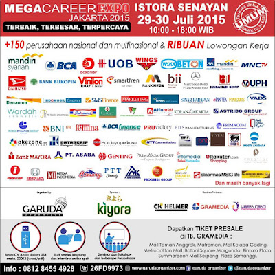 Bursa Kerja Mega Career Expo 2015, Istora Senayan Jakarta
