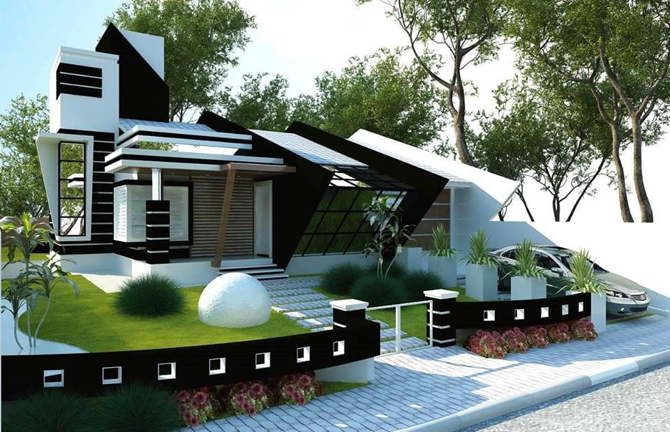 One storey house with roof deck living rooms gallery Home plans with rooftop deck
