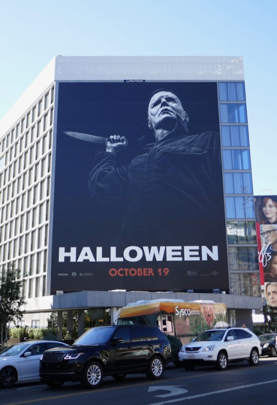 Giant Halloween movie billboard Sunset Strip