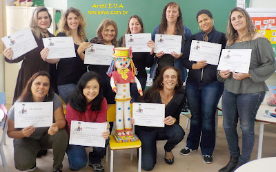 """Oficina E.V.A  Escola Municipal """"Professora Teresa Martins Pinhal""""  Mogi das Cruzes -SP"""