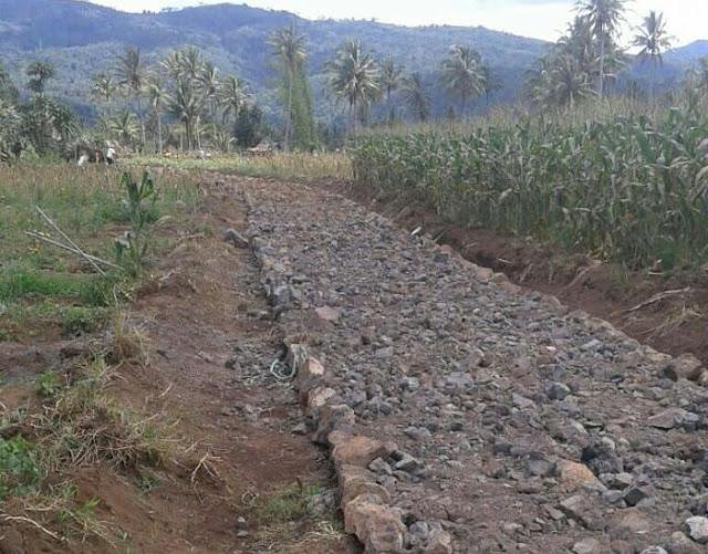 Pembangunan jalan di Desa Perbo