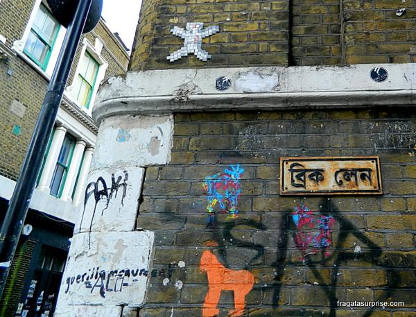 Londres - grafites no bairro de Brick Lane