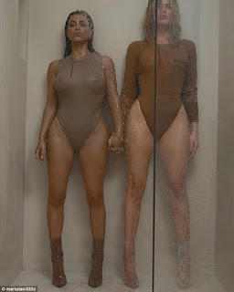 Kim And Khloe In Shower Photoshoot Pictures